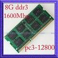 Totalmente Teste 8 GB PC3-12800 DDR3-1600 sodimm 204PIN DDR3 1600 MHZ 8G de Memória Portátil 1600 Notebook Upgrade de RAM 204-pin frete Grátis