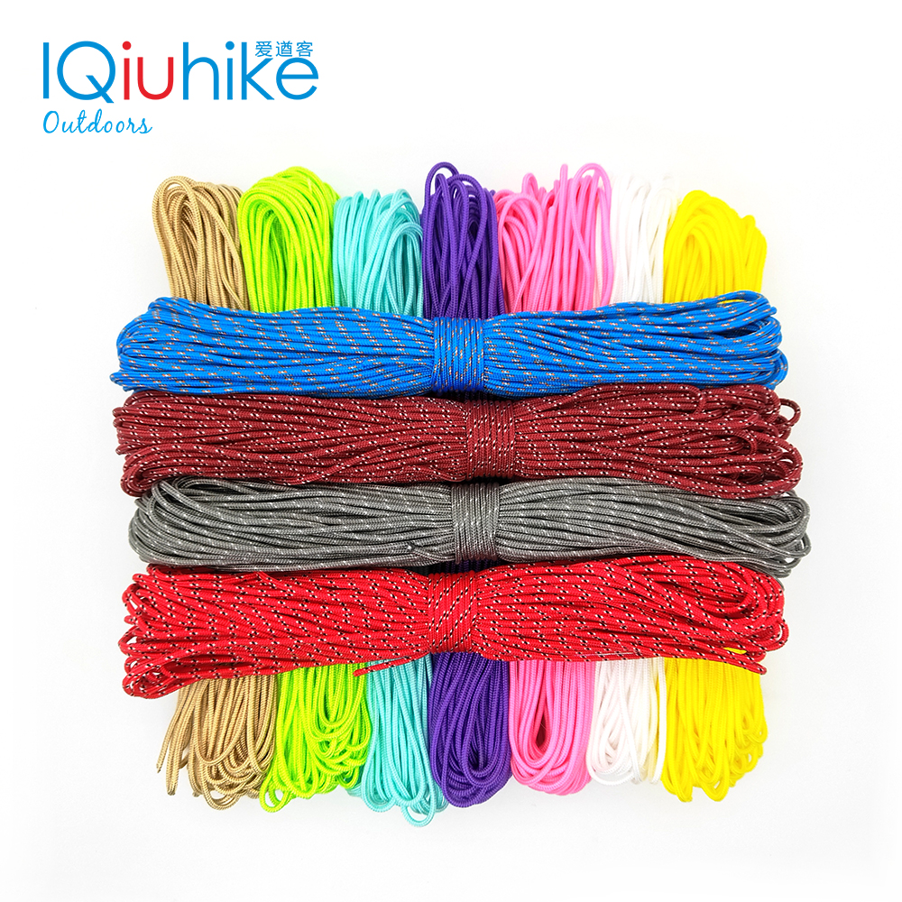 IQiuhike Paracord 2mm 50FT (15Meters) One Stand Cores Paracord Rope Cuerda Escalada Paracorde Bracelets Paracord Cord