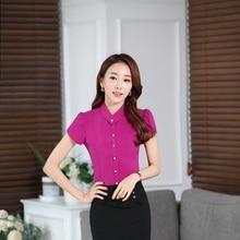แปลกโรสมืออาชีพธุรกิจสตรีเสื้อเสื้อแฟชั่นฤดูร้อนสุภาพสตรีTopsเสื้อผ้าB Lusas Blusaขนาดบวก