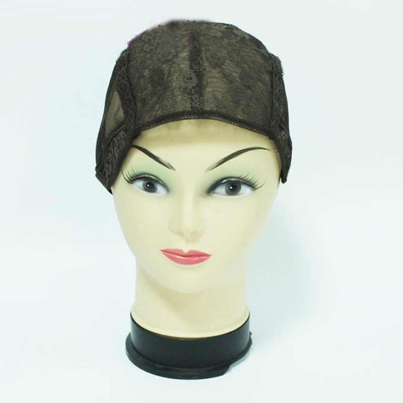 Новое поступление 5 шт./партия Средний размер темно-коричневый цвет парики шапки для изготовления париков с регулируемым ремешком на спине Быстрая доставка