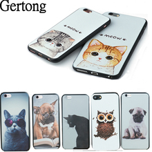 Dog Cat Cover Phone  For iPhone 6 6S Plus 7 7Plus