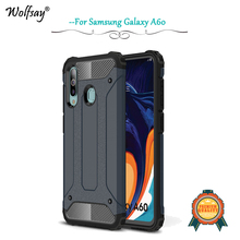 For Samsung Galaxy A60 Case Shockproof Armor Rubber Hard Phone Back Cover A606 Shell