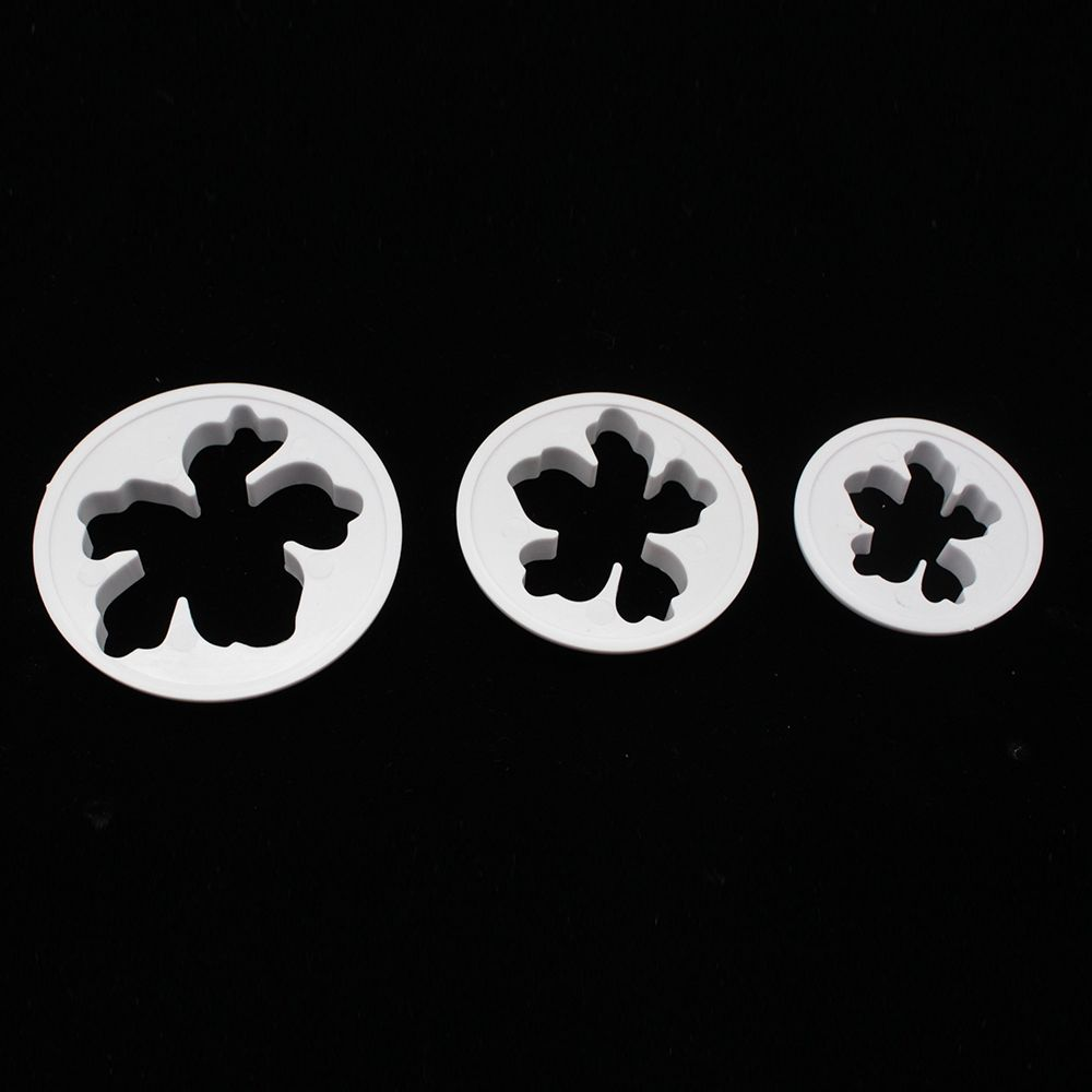 3pcsset Hawaiian Flower Cookies Cutter Mould Plunger Biscuit Icing