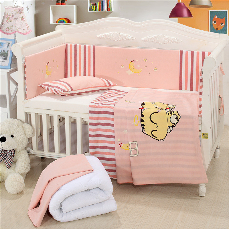 Brand New Mattress+Bed Sheet+Pillow+Bumpers+Quilt +Pillow Core+Quilt Core Crib Kit Detachable Baby Cotton Bedding Sets13