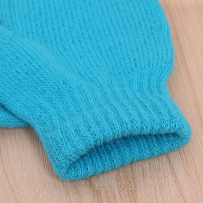 Unisex Knitting Warm Soft Gloves Kids Boys Girls Candy Colors Cute Mittens W715