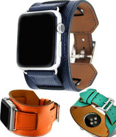 38mm 42mm 3 In1 Genuine Leather Cuff For Apple Watch Series1 2 Strap For Iwatch For