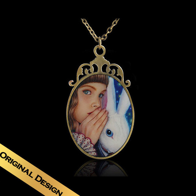 Special Chain Necklaces Handmade Enamel Bronze Classic Vintage Design Pendant Free Shipping Jewelry XLG1E05