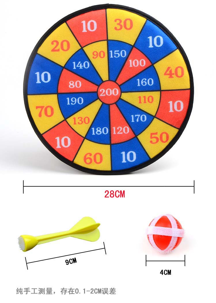 On The Target Suit Movement Of Darts Scale Plastic Darts Ball Flocking Needle Dart Board