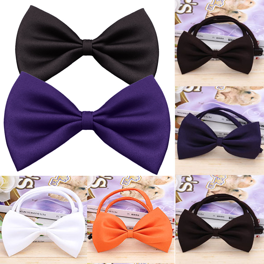 1 Piece Adjustable Dog Cat Bow Tie Neck Tie Pet Dog Bow Tie Puppy Bows Pet Bow Tie Different Colors Supply