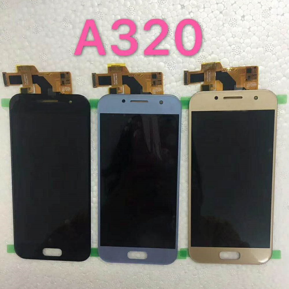 For <font><b>Samsung</b></font> Galaxy A3 2017 <font><b>A320</b></font> A320F A320M A320Y <font><b>LCD</b></font> Phone Display with Touch Screen Digitizer Assembly Brightness Replacement image