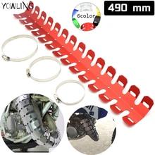 цена на Motorcycle Exhaust Muffler Pipe Heat Shield Cover Guard for Honda CRF 450R 250R 150R 250X 450X 230F 250L/M KAWASAKI 500 KX 450