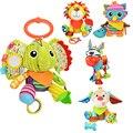 Animal bebé campana de mano agarre el educativo toys bebé campana sonajero de movilidad en la cuna cama colgante juguete mordedor felpa muñecas