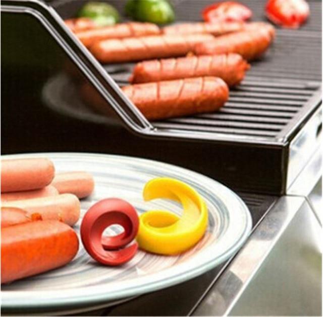New Kitchen Utensils Barbecue Sausage Cutters Manual Spiral Fancy Hot Dog Slicer Multi Purpose Fruit