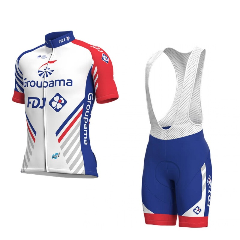 2018 new Pro team groupama FDJ cycling jerseys Bicycle maillot breathable Ropa Ciclismo MTB Short sleeve bike cloth 3D GEL 2017 new pro team cycling jerseys bike clothing ropa ciclismo breathable short sleeve 100