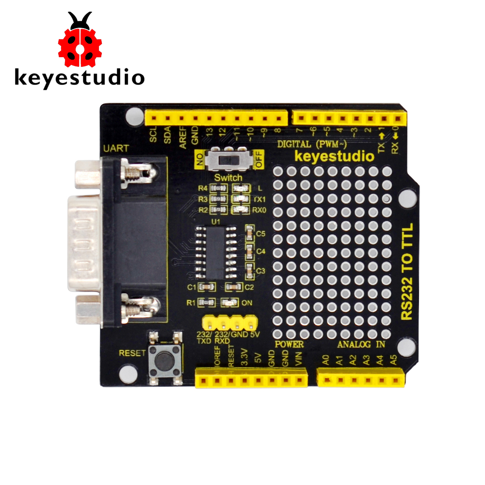 keyestudio RS232 to TTL Conversion Shield Board For  Arduino UNOR3 Compatible with RS232 Interfacekeyestudio RS232 to TTL Conversion Shield Board For  Arduino UNOR3 Compatible with RS232 Interface