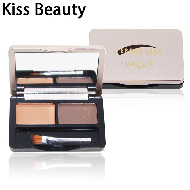 Kiss Beauty Two Color Eyebrow Palette With Brush For Beauty Women Makeupkiss Beauty Brand Eyebrow Cake Eye Pencil Kit In Eyebrow Enhancers From