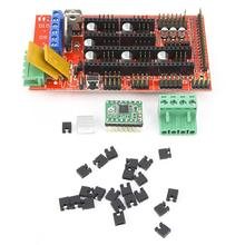 1Pcs RAMPS1.4 Control Panel + 5 Pieces A4988 Stepper Motor Drive Module Set For 3D Stereo Printer free shipping 3dsway 4pcs lot stepper motor driver module heat sinks cooling block heatsink for a4988 drive module 9 9 12mm blue