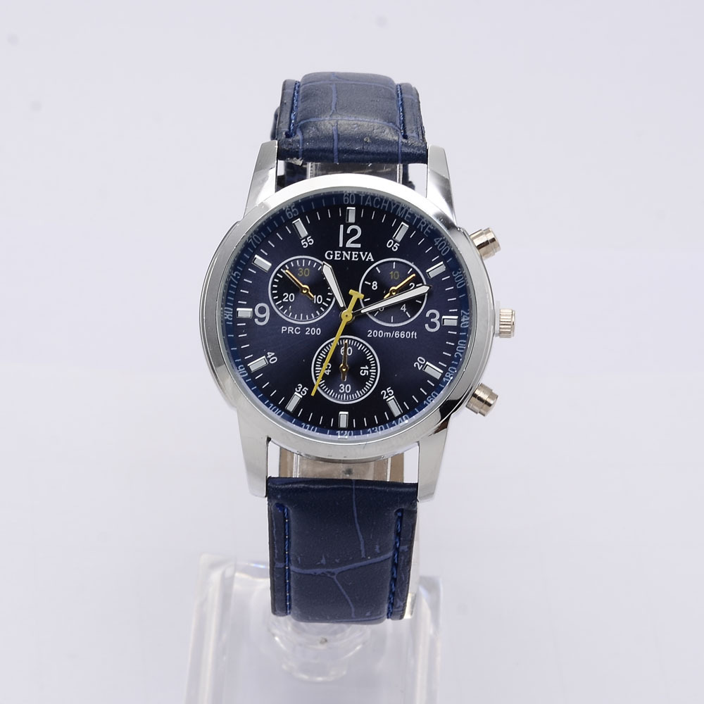 Geneva Sport Watches Fashion Wrist Watch Men Watch Leather Strap Men s Watch Clock saat relogio