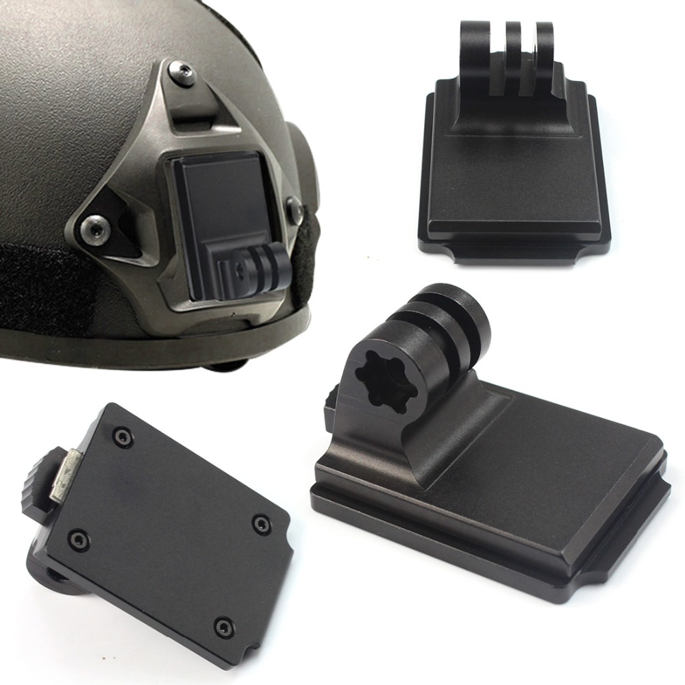 CNC Aluminum Fixed Plate Adapter Helmet NVG Mount Base For Gopro Hero 7 6 5 4 3+ SJCAM Sj4000 Xiaomi YI 4K Sports Action Camera image