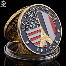 цена на 2019 USA Department of State Embassy Paris France Souvenir Gold Collectible Copy Coins
