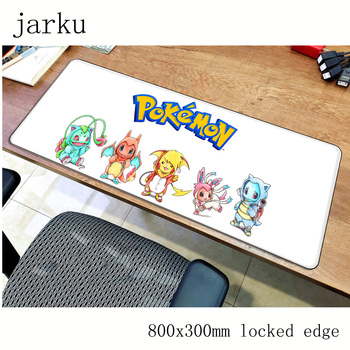 Pokemons mouse pad 800x300X2MM mouse mat laptop padmouse locked edge notbook computer gaming mousepad cute gamer play mats 2