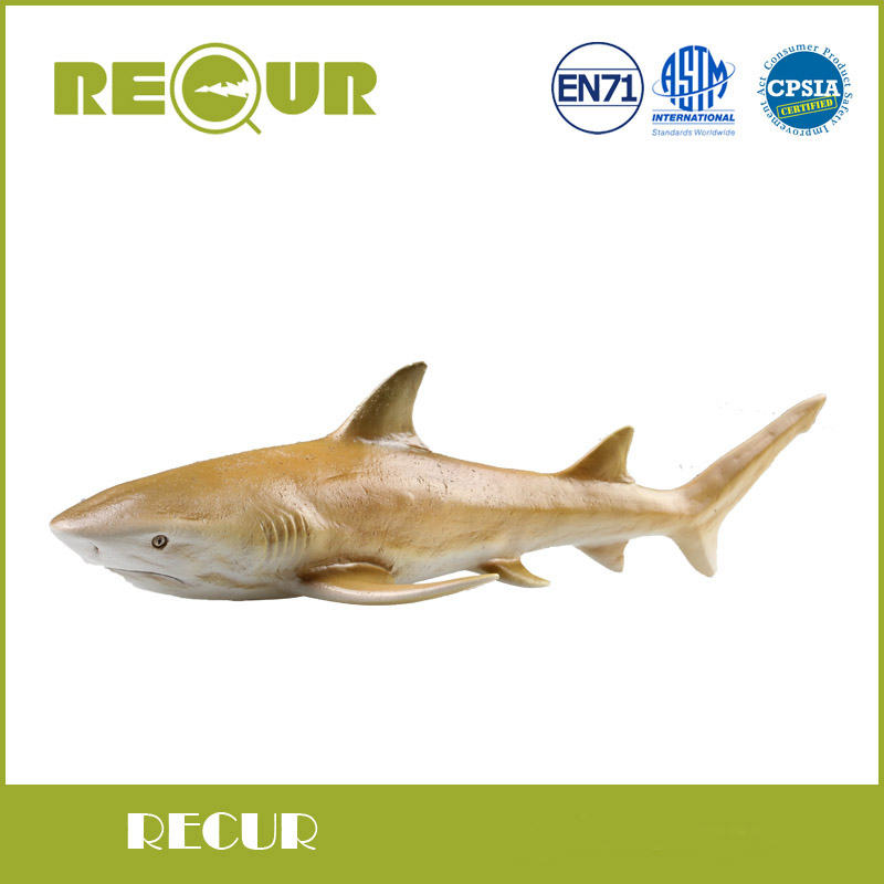 Hot Sale Recur Toys High Quality Lemon Shark Marine Life Model Highly Detailed Hand Painted PVC Toy Animal Figures Collection easyway sea life gray shark great white shark simulation animal model action figures toys educational collection gift for kids