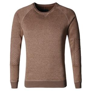 Image 5 - Men solid fleece hoodies thickening Metrosexual men slim cotton casual winter brand new arrival sweatshirt o neck fashion F0011