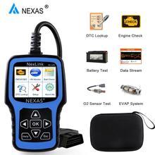 Motor de escáner automotriz NEXAS NL101 OBD2, batería OBDII, escáner PK CR3001 ELM327, herramienta de diagnóstico profesional EOBD OBD para coche