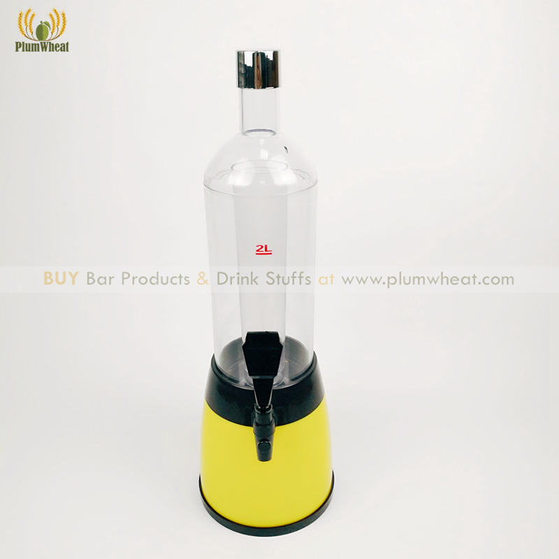 Yellow 2L Beer Tower Dispenser with Ice Tube BT12