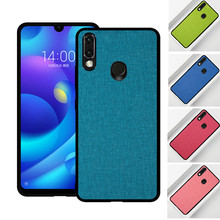 For Xiaomi redmi 7 Note Case note 6 Fabric Hard PC Silicone Shockproof Bumper Cover Redmi note7