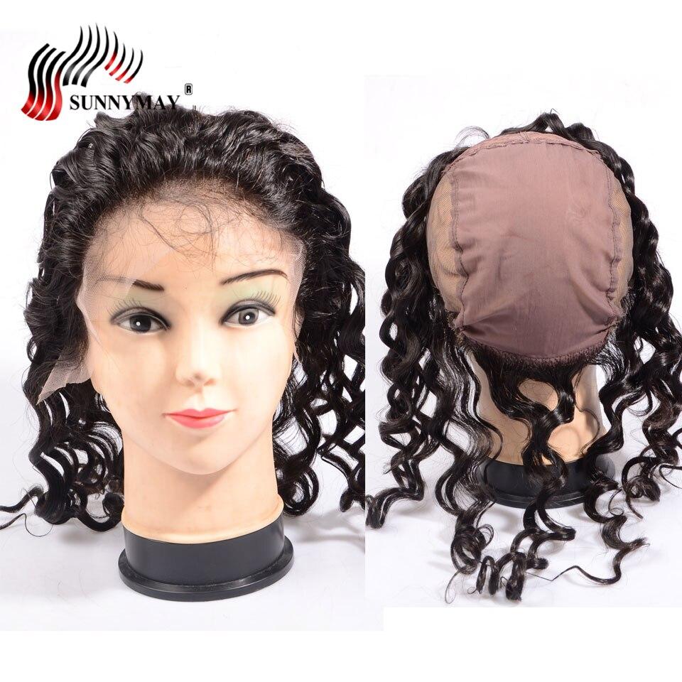 Sunnymay lâche vague 13x4 dentelle frontale avec capuchon pour faire des perruques brésilienne vierge cheveux dentelle fermeture perruque Cap