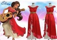 Elena Of Avalor Princess Elena Cosplay Costume Red Luxury Fancy Princess Dress Halloween Costumes For Women