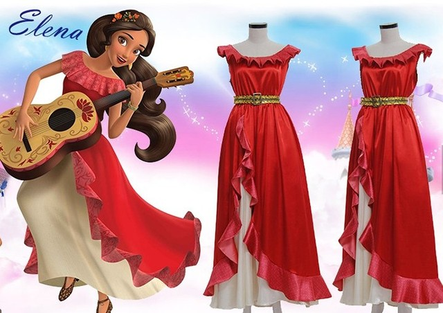 Elena Of Avalor Princess Elena Cosplay Costume Red Luxury