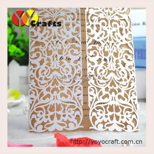 Us 7 6 Simple Invitation Card Laser Cut Birthday Invitation Cards India With Inner Paper Envelop And Seal In Cards Invitations From Home Garden