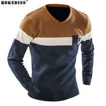 ROKEDISS men sweater winter round neck knitted sweaters male casual autumn Cashmere pullovers mens Thick warm Fight color Z208