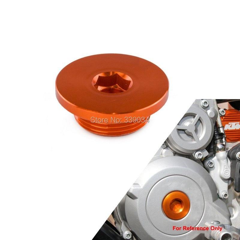Orange Ignition Cover Plug For KTM 1190 Adventure/R 2012-2015 RC8 2008-2013 1290 SUPERDUKE 2014-2015 cnc billet engine plug ignition cover plug for ktm 390 duke 2013 2014 2015 2016