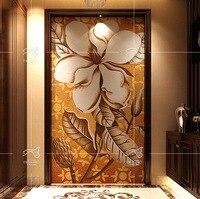 Отрезок руки цветок художественного стекла мозаику D2006