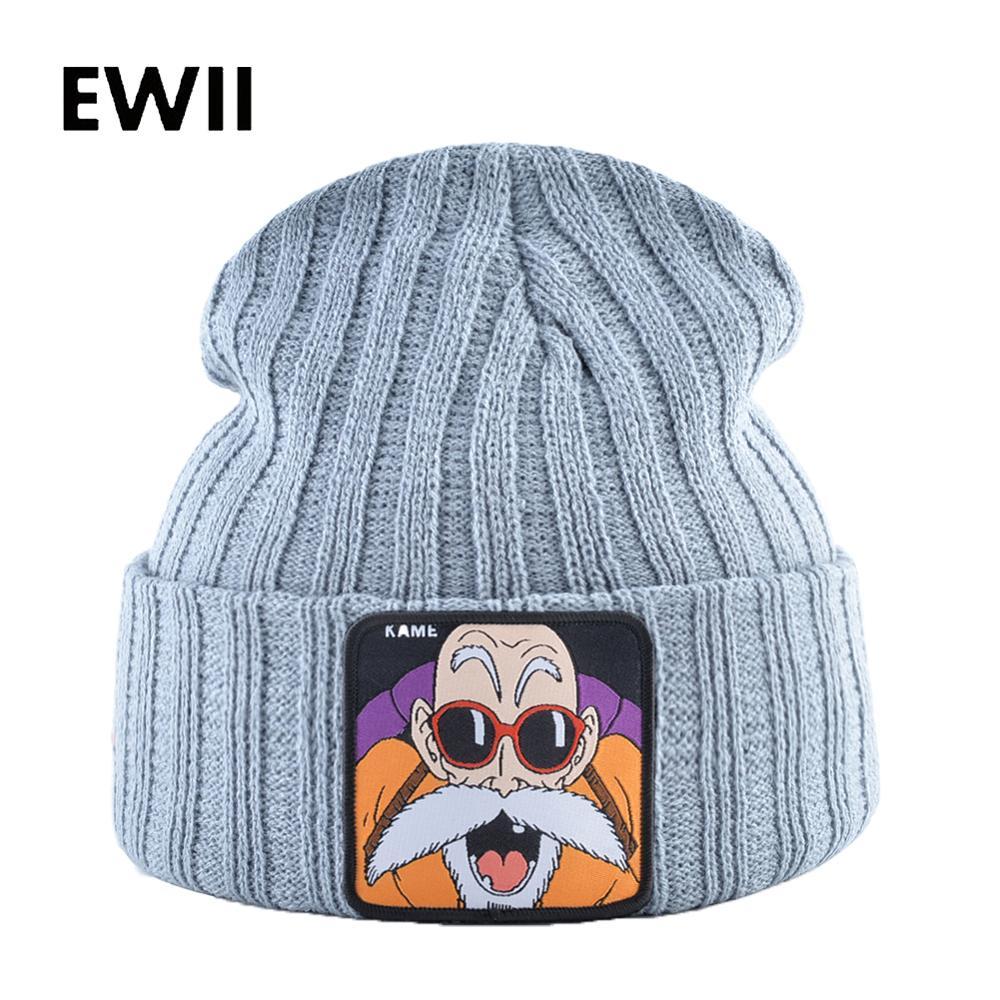 Winter Beanie Knitted Hat Men Winter Hats For Men Dragon Ball Knit Cap Skully Warm Skullies Beanies For Women Caps Gorro Mujer