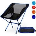 Портативный походный пляжный стул легкий складной Рыбалка Outdoorcamping напольный Ультра свет Оранжевый Красный темно синий пляжные стулья