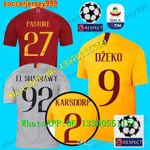 a380b4d36 DZEKO PEROTTI PASTORE jérsei de futebol roma TOTTI jerseys 18 19 camisa  liga Dos Campeões de