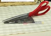 043057bake Ware Cooking Tools Pizza Cutter Shovel Metal Scissors Easy To Dismantle Red Free Shipping Wholesale