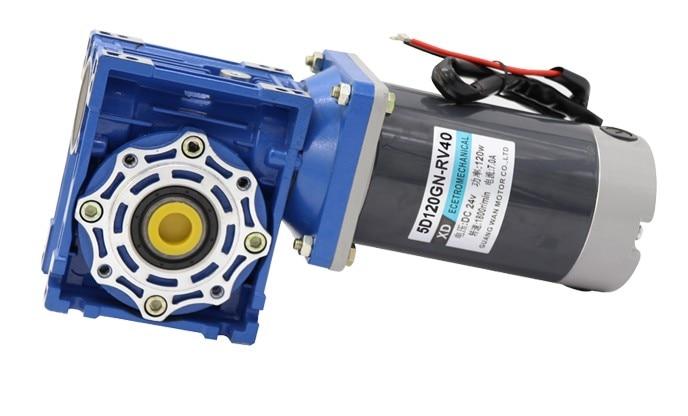 low speed motor with self-locking can adjust the speed motor 120W DC gear motor RV40 12V 24V miniature motor zga37ree 37mm miniature dc gear motor adjustable speed motor reversing 12v 24v 5rpm 350rpm