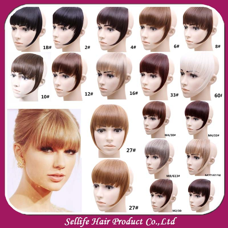 Front Hair Bangs Extension Clip In Hair Bang Heat Resistance Fibre
