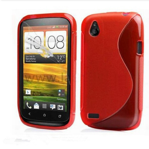 New Soft Silicone TPU Gel S line wave Skin Back Cover Case For HTC Desire X T328E T328W Case