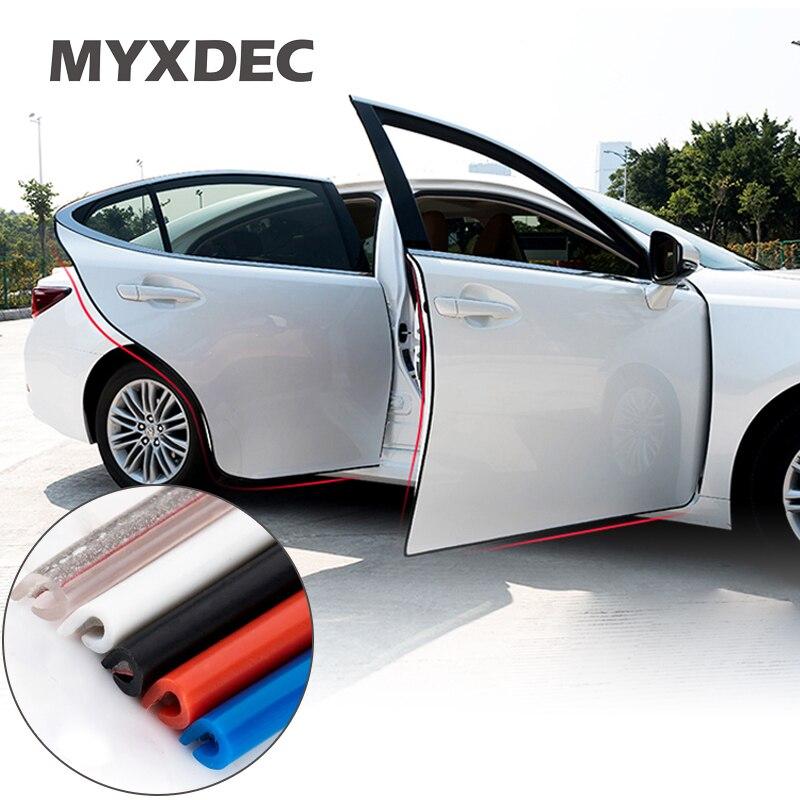4x Brown Car Door Edge Guard Anti-Scratch Protector Moulding Strip Accessor hi
