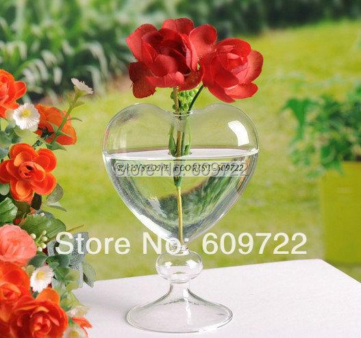 vintage cm artificial florero plantador terrario de cristal recipiente corazn unids fl boda decoracin