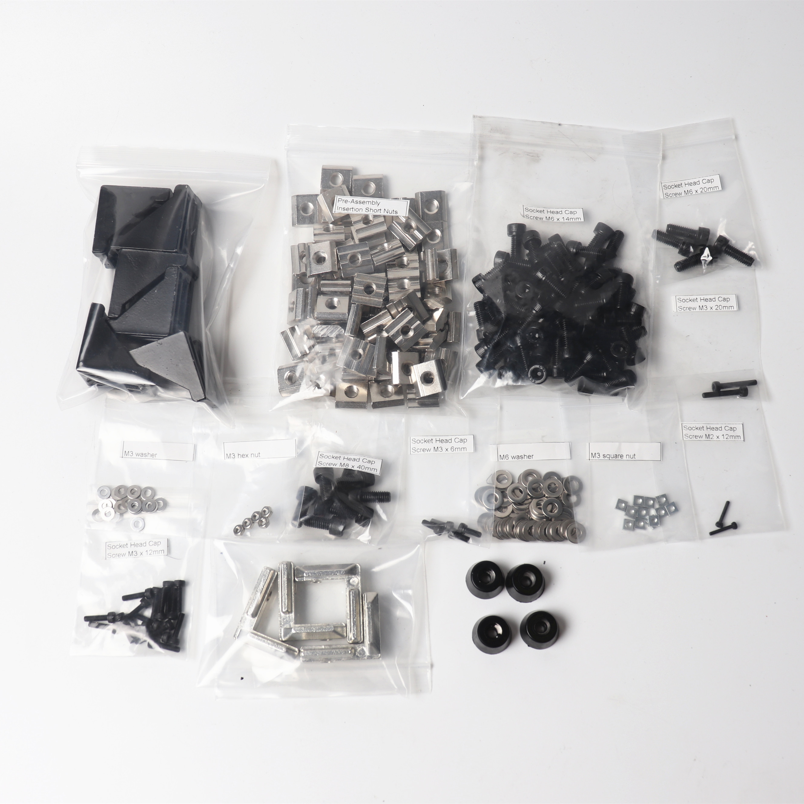 Faithful Screws Nuts Kit For Upgrading Prusa I3 Mk2/mk3 Zaribo/haribo 3d Printer Diy Blind L Bracket Ruber Feet