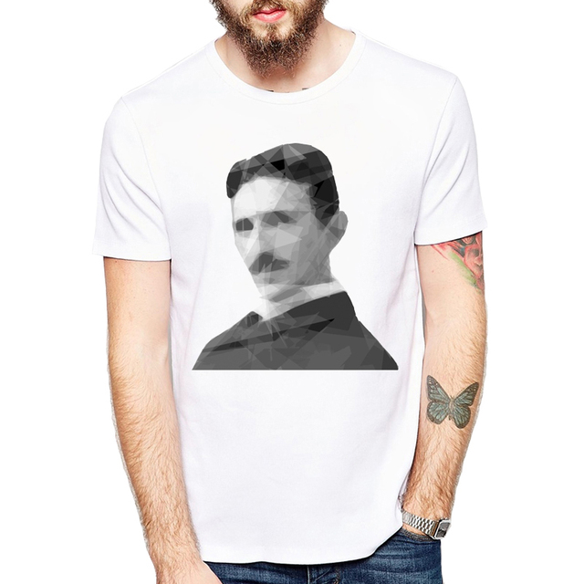 27b716fb Great Scientist T-Shirt 2018 Custom Men T-shirt Short Sleeve Casual t  shirts Nikola Tesla Printed Tee Shrits Hipster Basic Tops