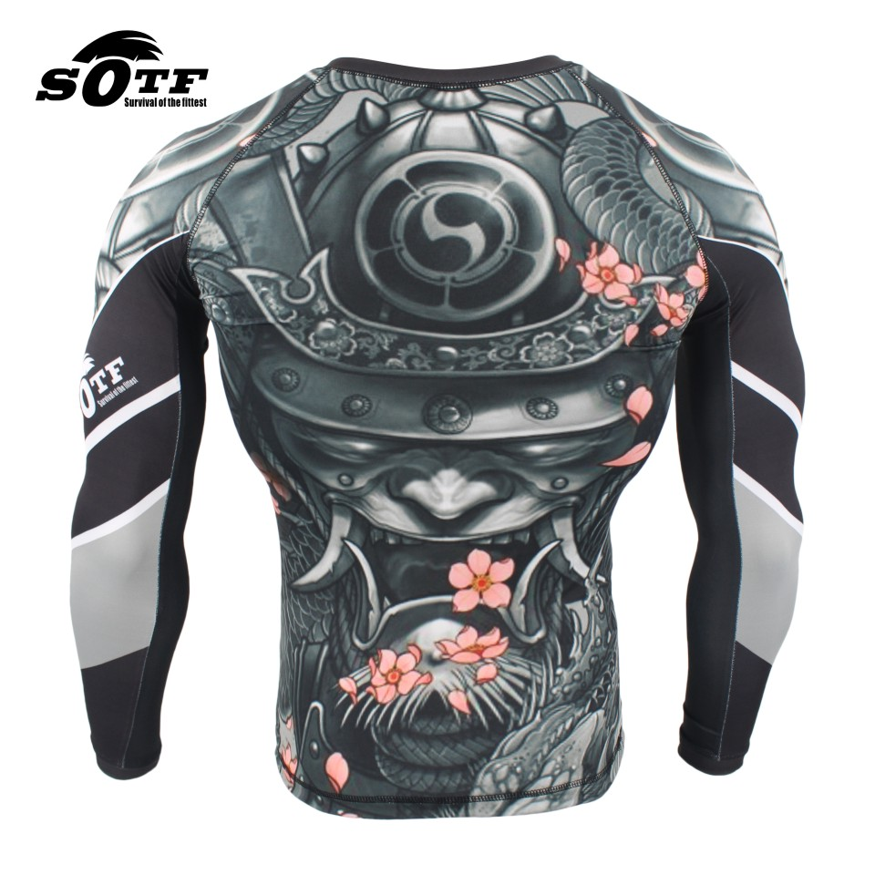 Intelligent Free Shipping Mma Breathable Tight Listing Short-sleeved Clothing Stretch Fitness Muay Thai Fight Sweatshirt Muaythai Rashguard Pretty And Colorful Fitness & Body Building