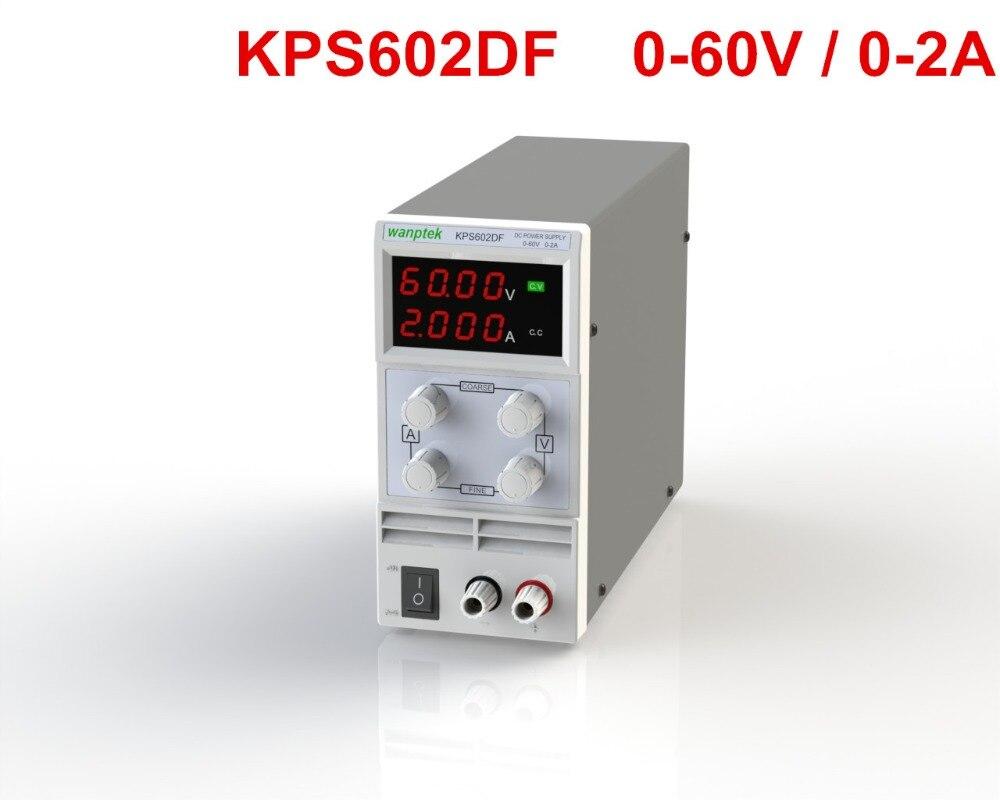 KPS602DF Adjustable High precision double LED display switch DC Power Supply protection function 60V2A 110V-230V 0.1V/0.001A EU
